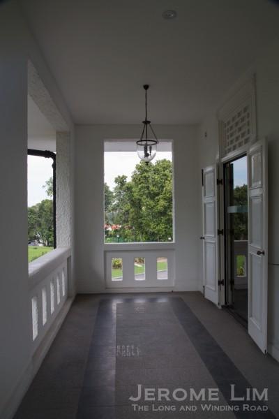 The balcony outside the former President's bedroom.