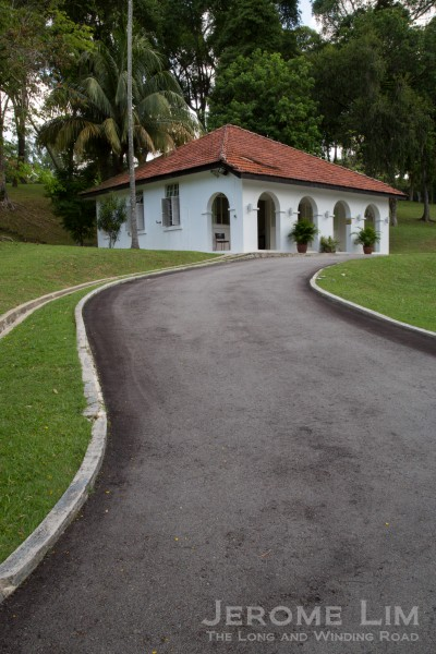 The road up to the former Command House.