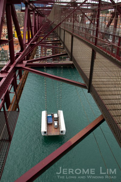 The gondola, seen from the walkway.