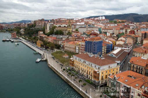 Portugalete fron the bridge.
