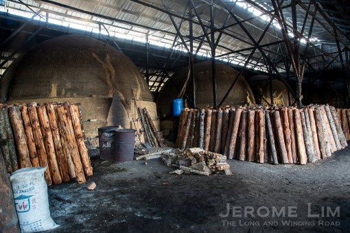 Charcoal kilns, the contruction knowhow of which interestingly, was brought in by the Japanese during the war.