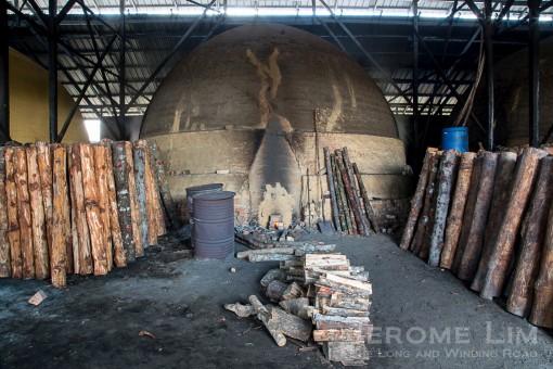 A kiln in use.