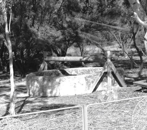 A recent photograph of one of the two wells in the township of Two Wells, north of Adelaide E. Arozoo 2016