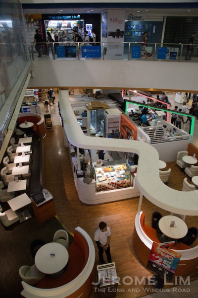 An eatery on the first level.