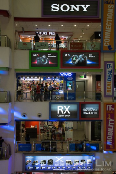 Funan with its floors of IT and Electronic shops.