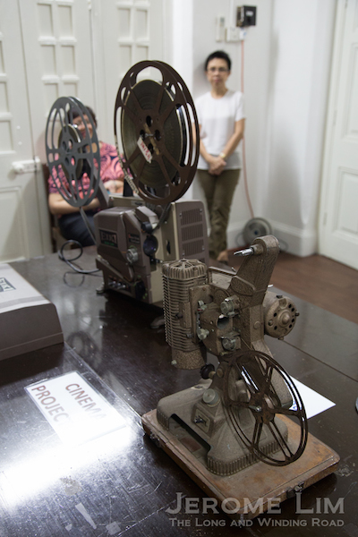 A movie projector.