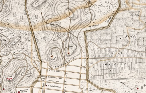 From the 1836 Map of Town and Environs, based on a survey carried out by G D Coleman.