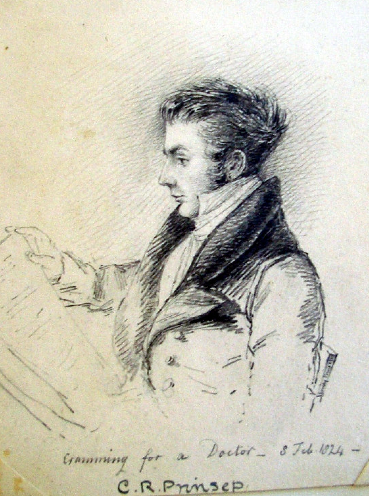 A sketch of a young Charles Robert Prinsep by his sister Emily, 1824.