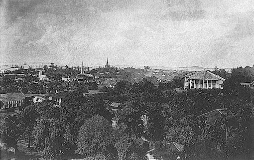 Carrington House, as seen from Osborne House, 1880.