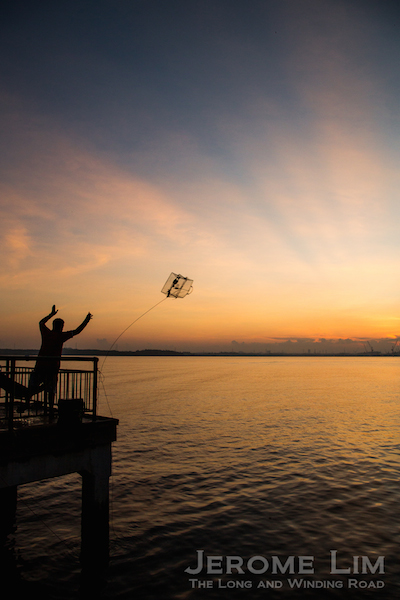 Tossing the crab trap, 7.02 am, 1 March 2015.