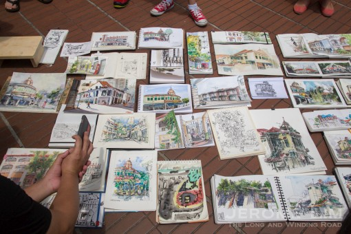 The Ellison Building as interpreted by the Urban Sketchers of Singapore.