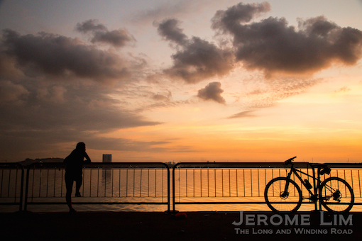 The cyclist, 6.38 am, 30 May 2015.