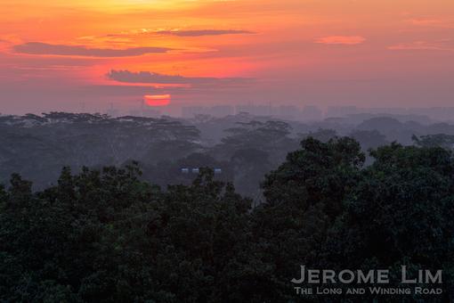 Sunrise over Mandai, 6.51 am, 3 October 2013