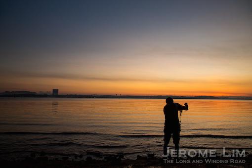 The fisherman, 6.36 am, 5 June 2015.