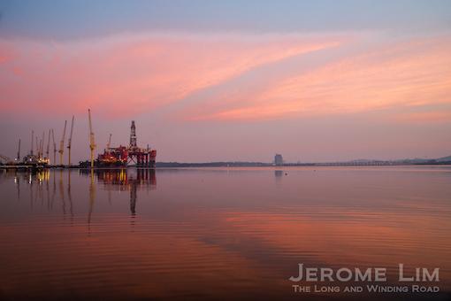 The finger pier, Sembawang Shipyard, 6.41am, 9 June 2015.