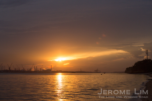 The view towards Pasir Gudang, 6.58 am, 21 November 2013.