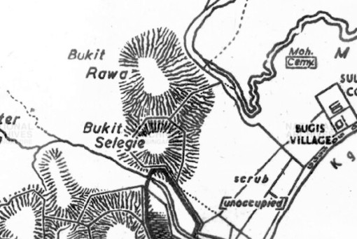 From a map of Singapore dated 1822-23. Cawah is probably misspelt as Rawa.