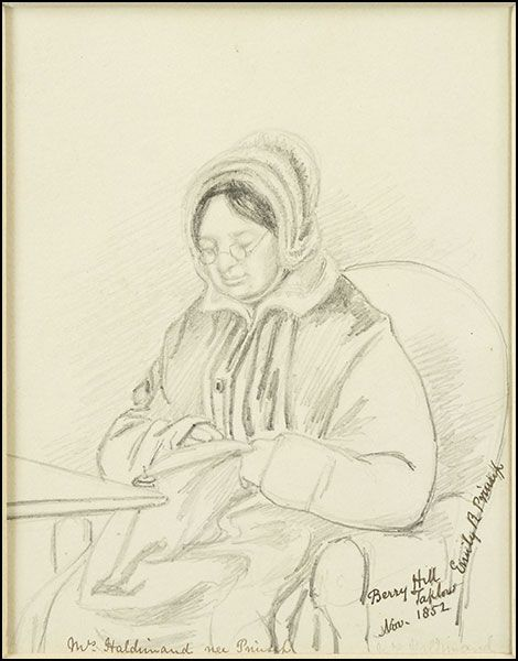 Sophia Charlotte Haldimand (née Prinsep) - another sketch by Emily Prinsep. Could she be the Sophia in Mount Sophia?