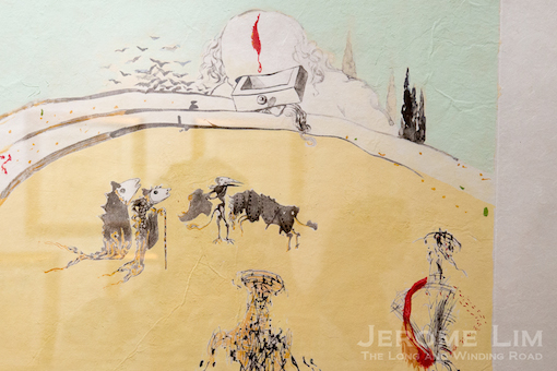 """Bullfight with Drawer from the Surrealistic Bullfight series, which was inspired by Picasso's """"Tauromachie"""" series."""