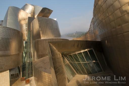 The Gueggenheim Museum in Bilbao.