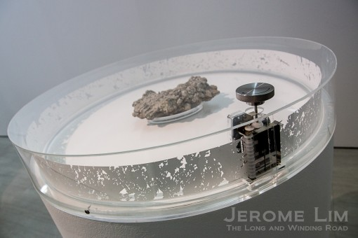 Music boxes - which feature impressions made by physical features are part of teh installation.