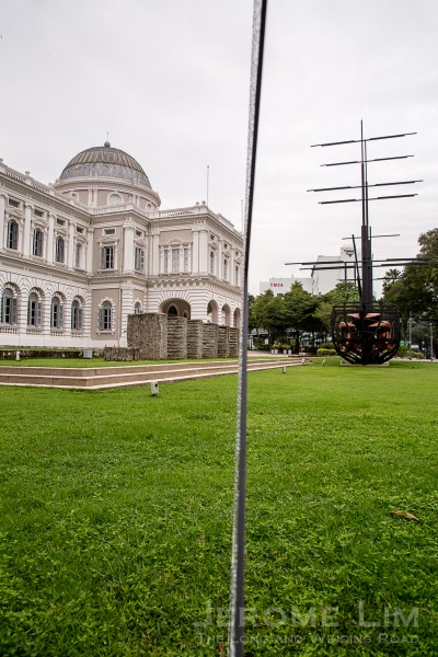 The Great East Indiaman by David Chan on the National Museum of Singapore's front lawn.
