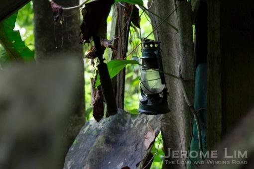 A kerosene lamp at Lorong Pelita.
