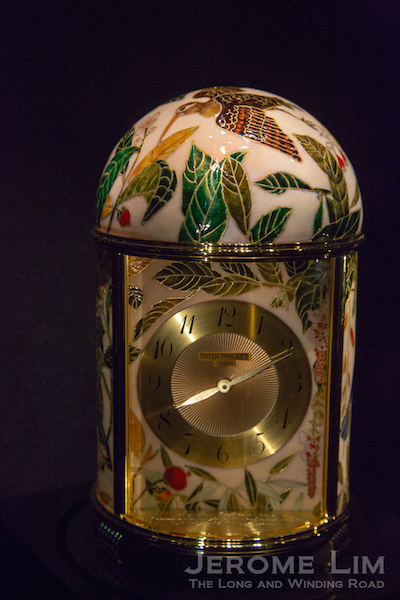 A Patek Phillippe 'Farquhar Collection' Dome table clock donated by Hour Glass. Proceeds from an auction have gone to the revamp of the Glass Rotunda.