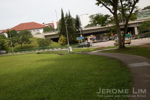 A view towards the area where Bukit Timah Village was.