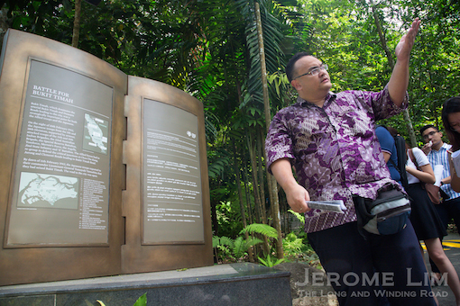 Dr. Effendy at the foot of Bukit Timah Hill.