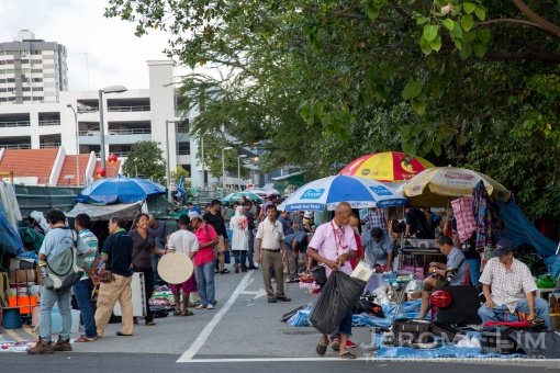 Thieves Market today, a pale shadow of Robinson Petang in its heyday.