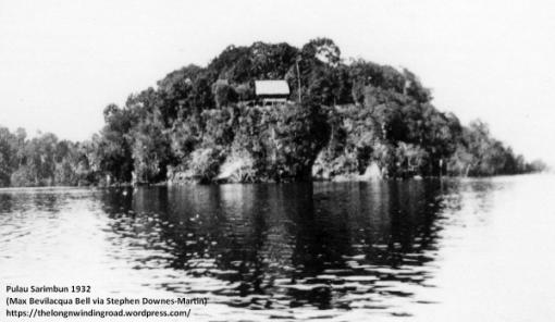 1932 Malaya, Jahore Straits, Pulau Serimban near Lim Chu Kang