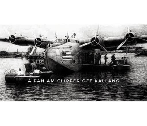 Pan Am Clipper off Kallang